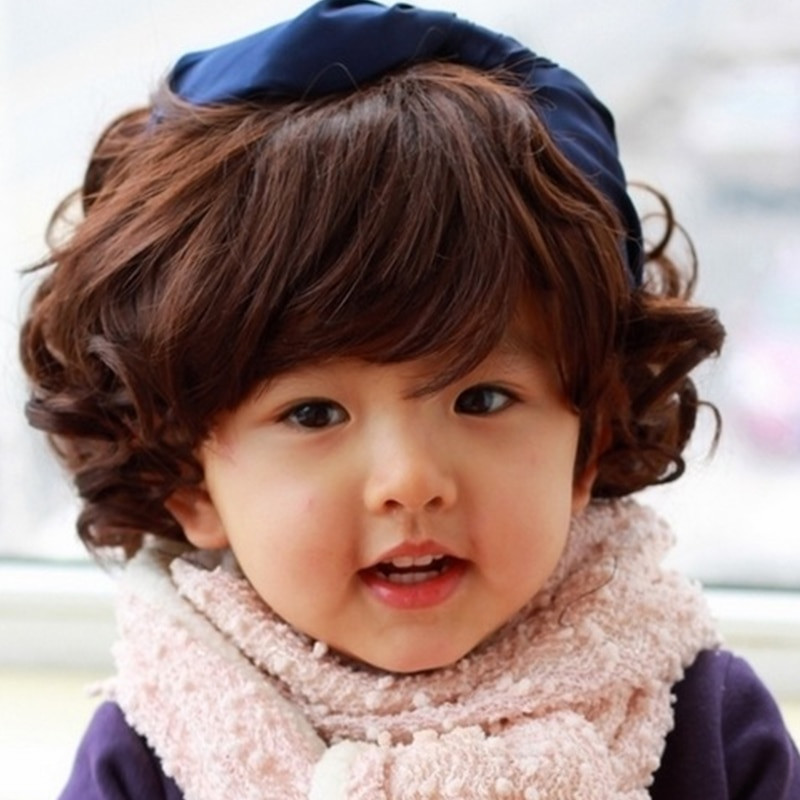 Curly Hair Baby Boys  Professional graphy Children Cool Baby Boy Curly