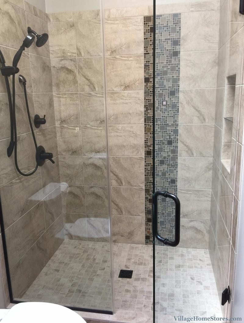 Custom Bathroom Shower  Hall Bathroom With Custom Tile Shower