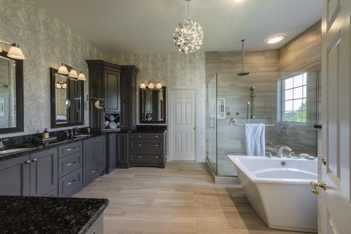 Custom Bathroom Shower  JLH Inc Custom Master Bath Remodel Jeffrey L Henry Inc