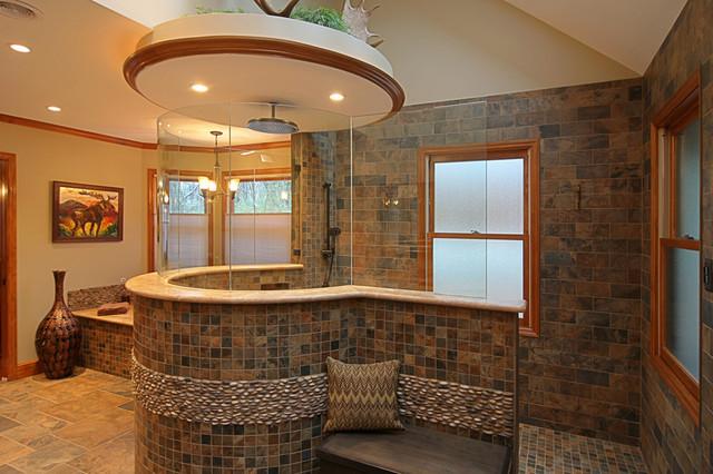 Custom Bathroom Shower  Custom Tile Master Bath Eclectic Bathroom St Louis