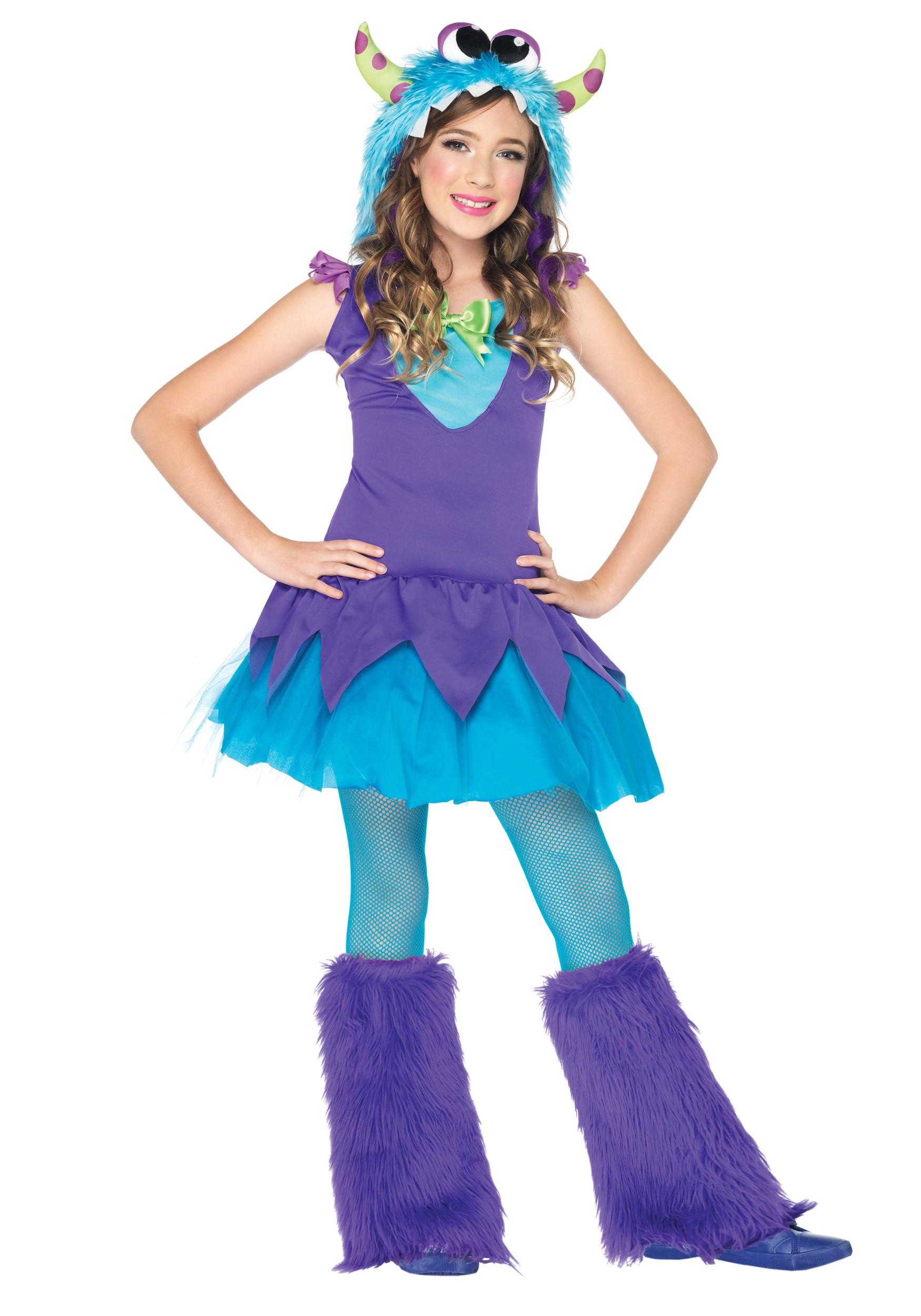 Cute DIY Costumes  Girls Cross Eyed Carlie Monster Costume