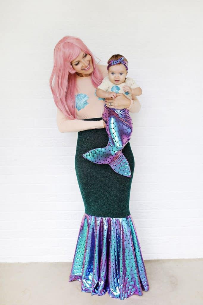 Cute DIY Costumes  Mother Daughter Mermaid Costume DIY A Beautiful Mess