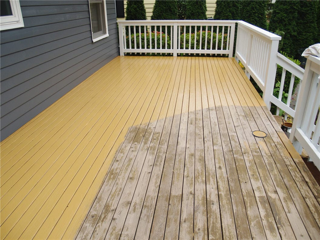 Deck Paint Stains  How to Stain a Deck Tutorial & Cost Guide
