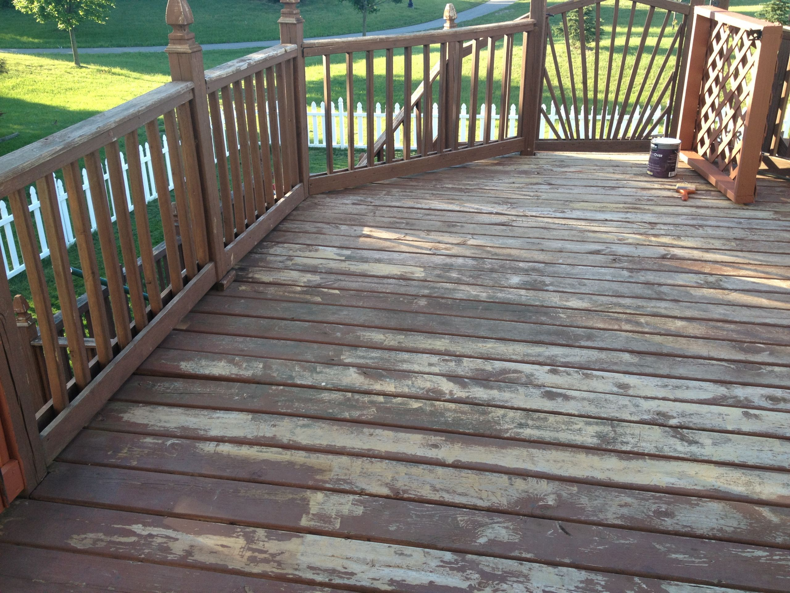 Deck Staining Painting  Behr DeckOver