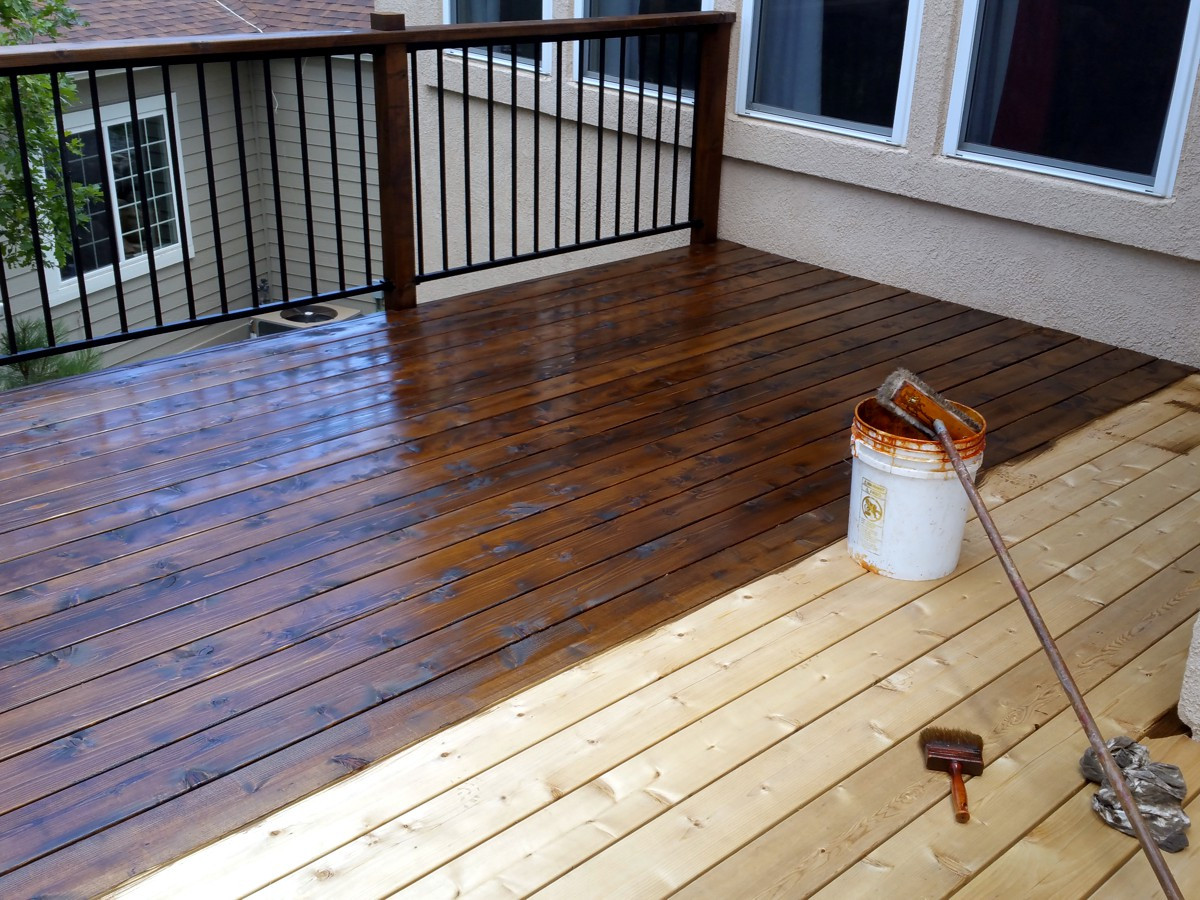 Deck Staining Painting  CHOOSING DECK COLORS – Oleary and Sons