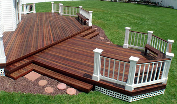 Deck Staining Painting  Painting Versus Staining Your Deck
