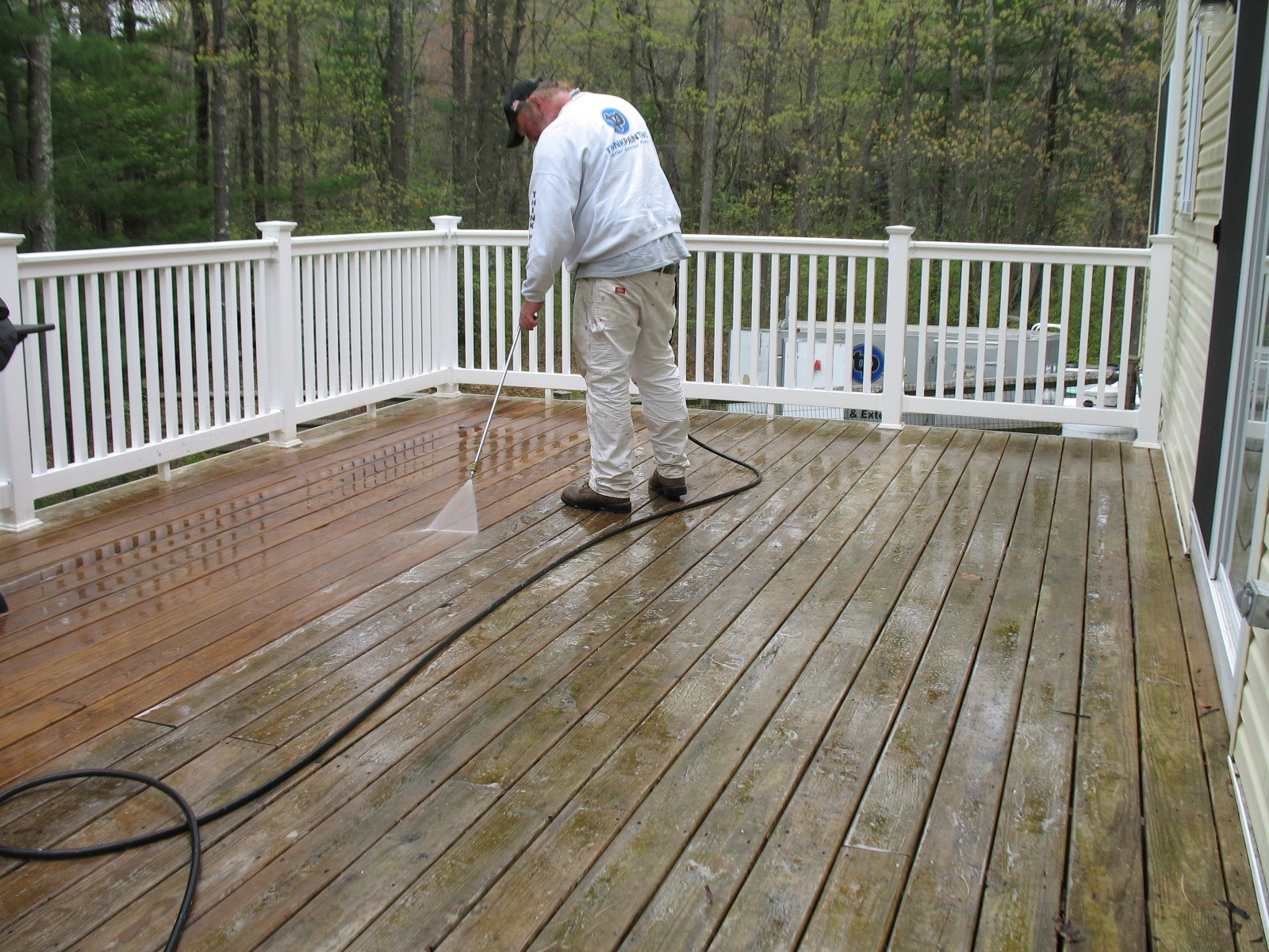 Deck Staining Painting  Deck Staining in Massachusetts Think Painting