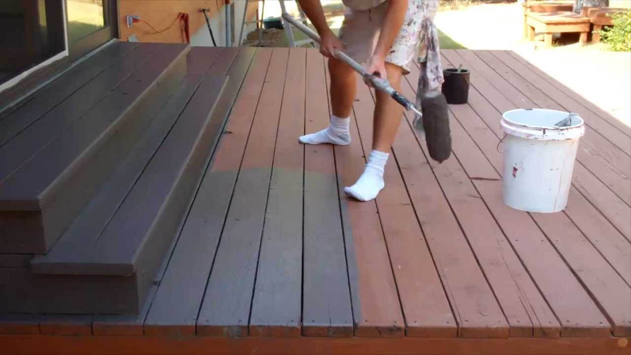 Deck Staining Painting  Exterior Painting Step 9 Staining the Deck