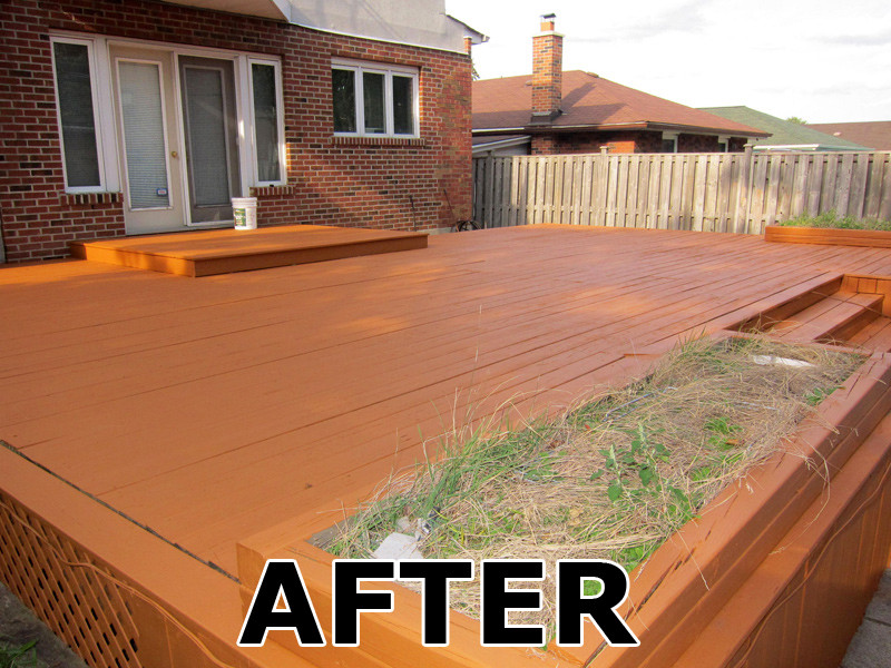 Deck Staining Painting  Home Painters Toronto Toronto Deck Staining and Fence