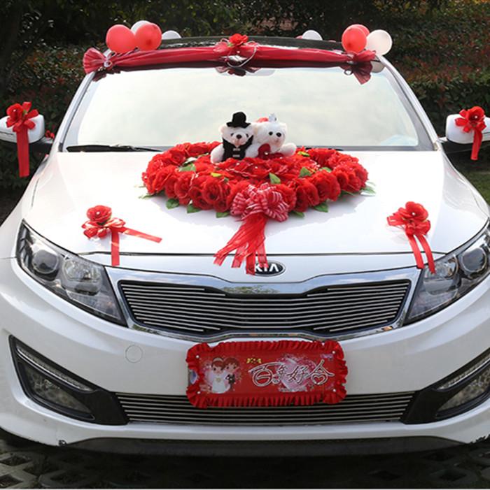 Decorate Wedding Car  Wedding Car Decoration Flower Bridal Sedan Car