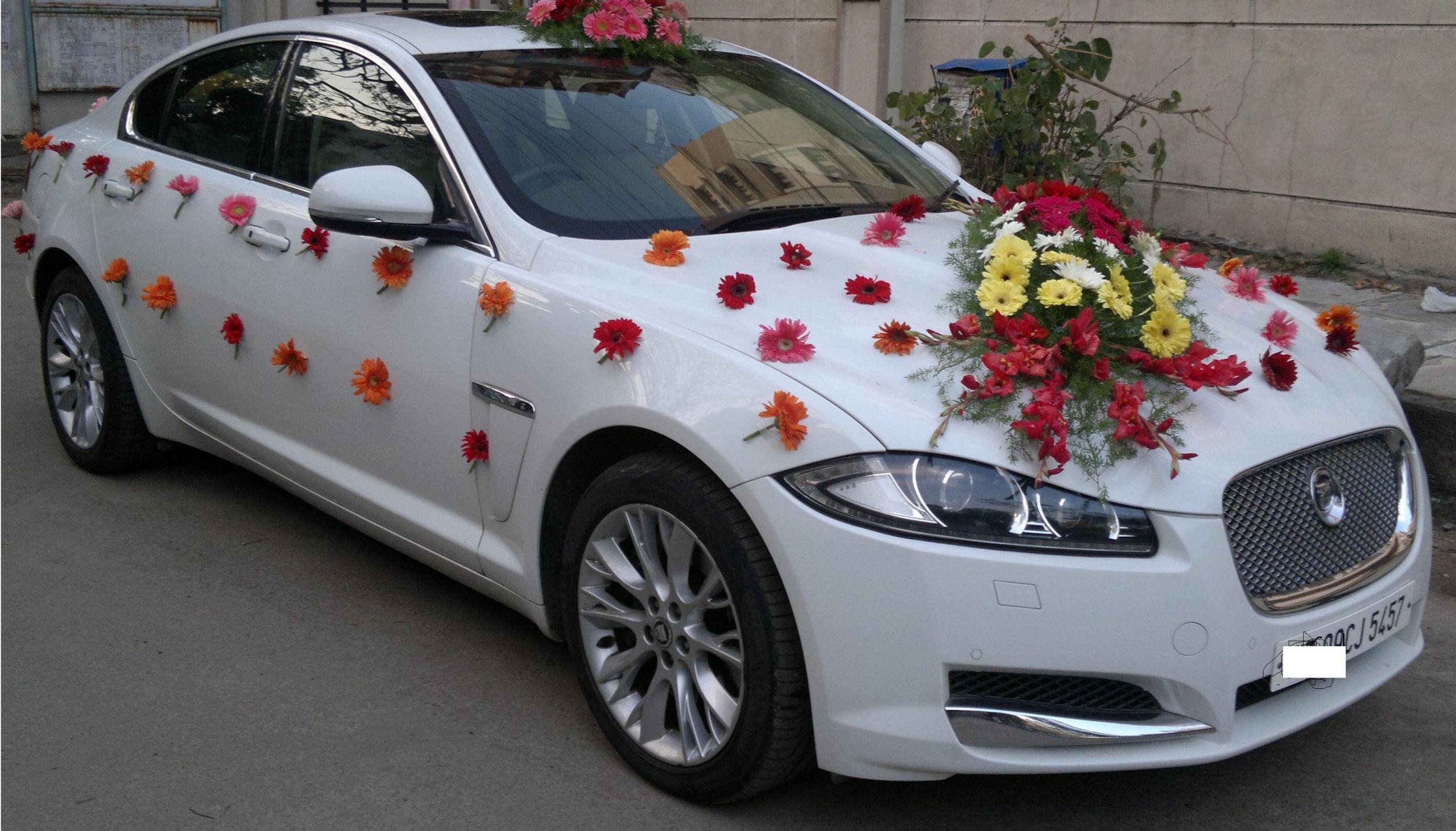 Decorate Wedding Car  Wedding Car Decoration in Gurgaon Delhi NCR Noida