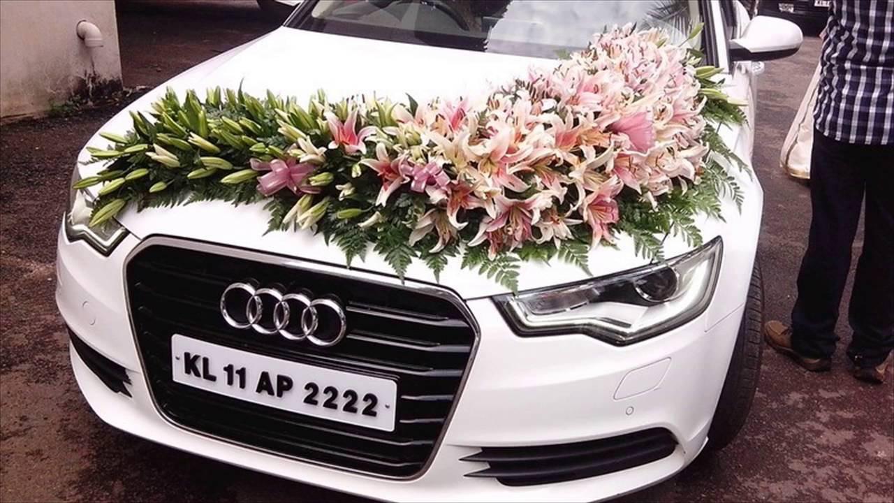 Decorate Wedding Car  Wedding Car Decoration With Flowers