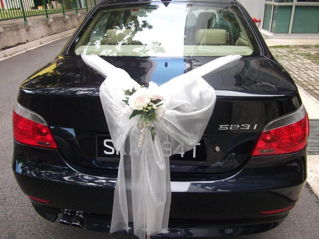 Decorate Wedding Car  BMW 523i Saloon Wedding Car Decorations