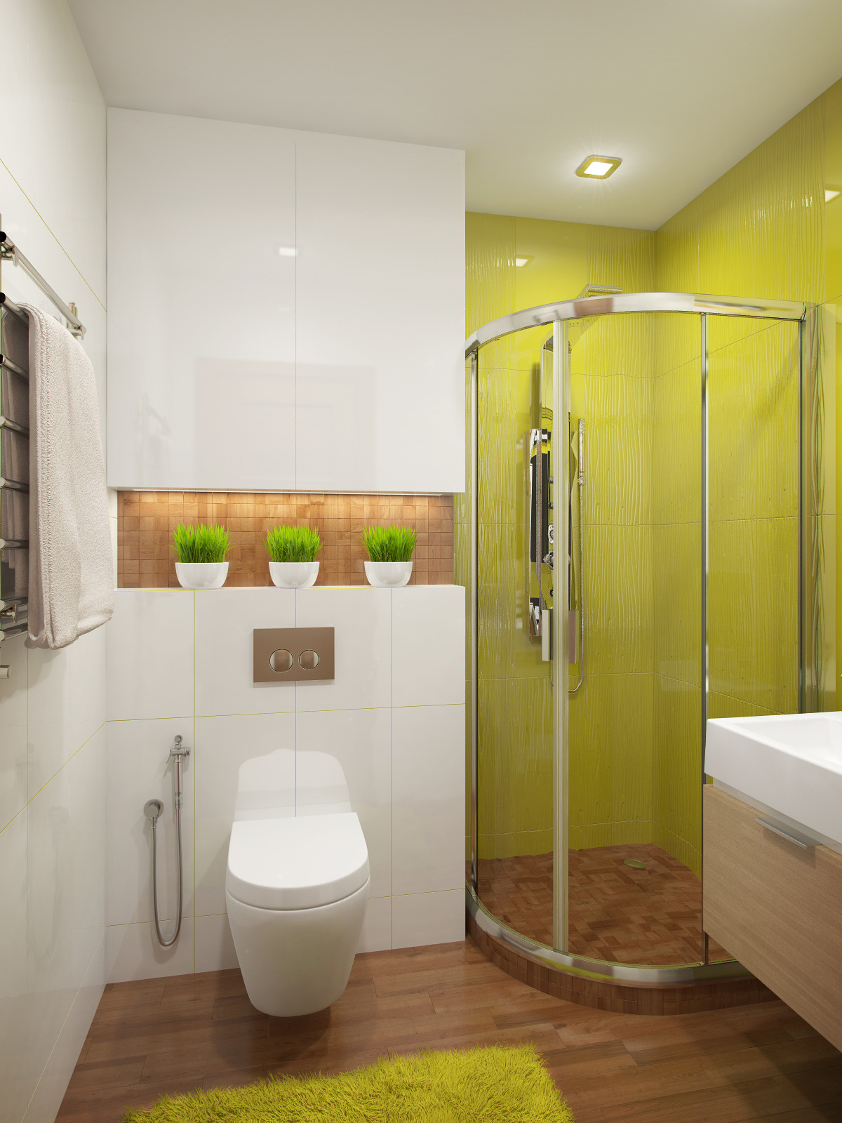 Design A Bathroom  A Cozy Apartment in Kyiv with Soft Citrus Accents