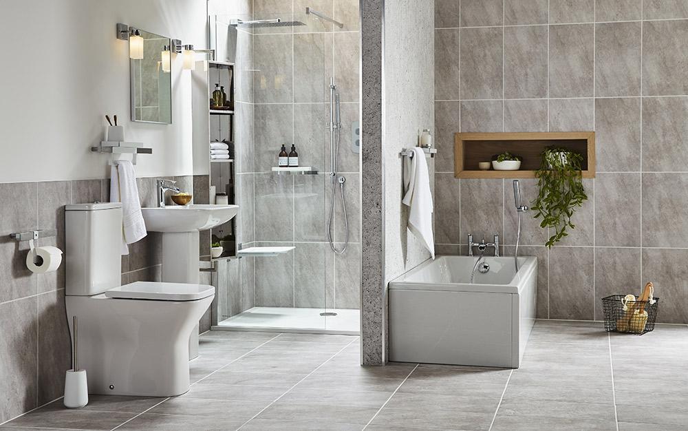 Design A Bathroom  Bathroom makeover an easy redesign
