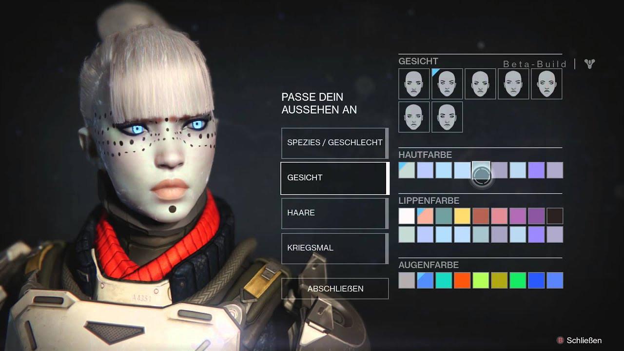 Destiny 2 Female Hairstyles  Destiny Beta Character Customitation Female Awoken