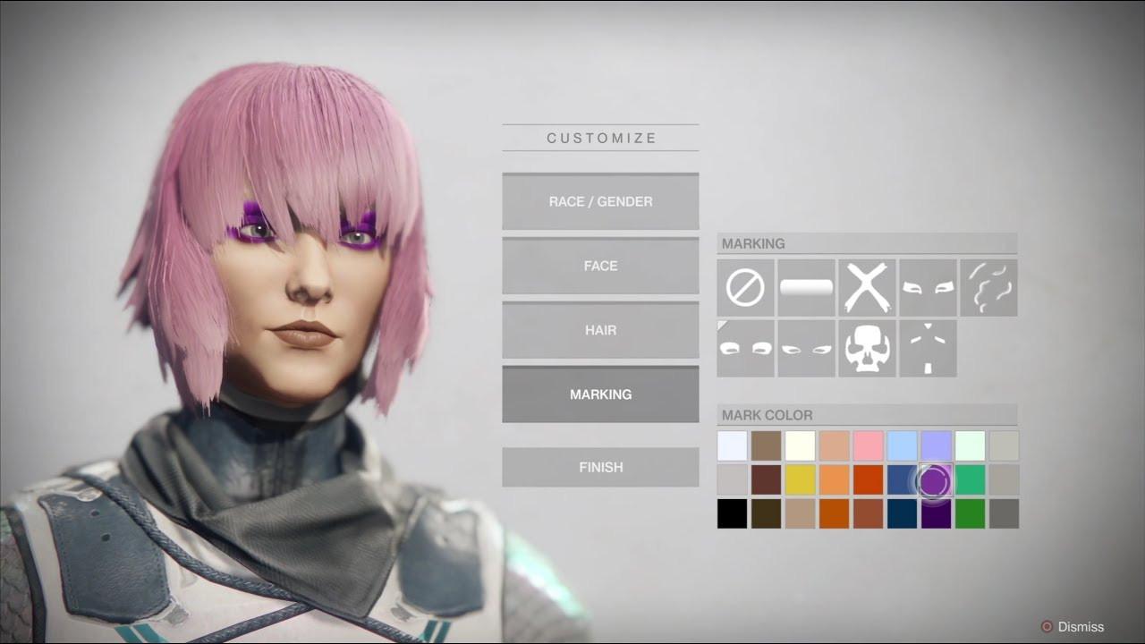 Destiny 2 Female Hairstyles  Destiny 2 Character creation Female Human Hunter