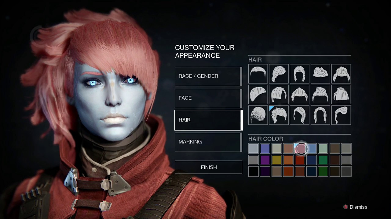 Destiny 2 Female Hairstyles  Destiny Cool Awoken Female Character Creation