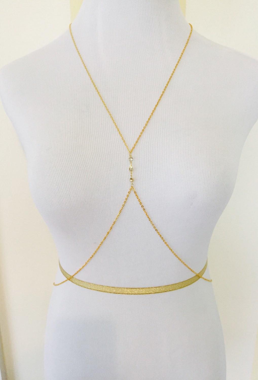 Diamond Body Jewelry  Gold Diamond Stud Body Chain Beach Body Jewelry