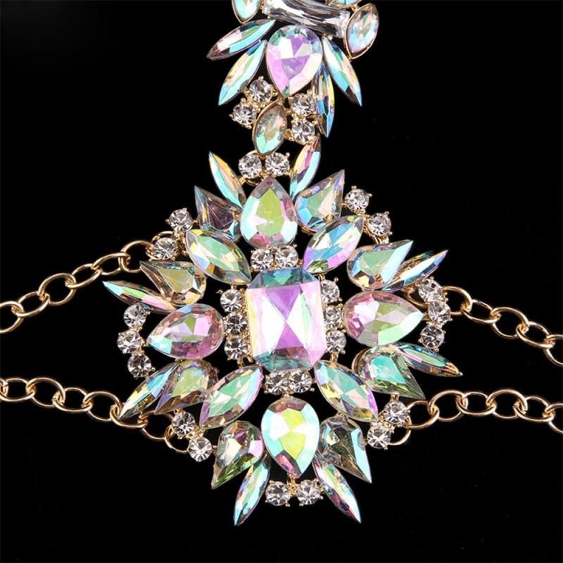 Diamond Body Jewelry  Fashion La s Diamond Body Jewellery Waist Crossover