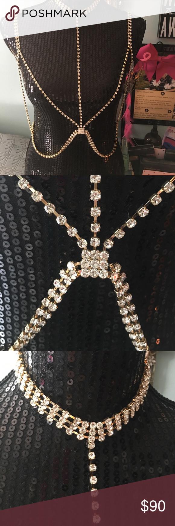 Diamond Body Jewelry  Diamond body jewelry herness