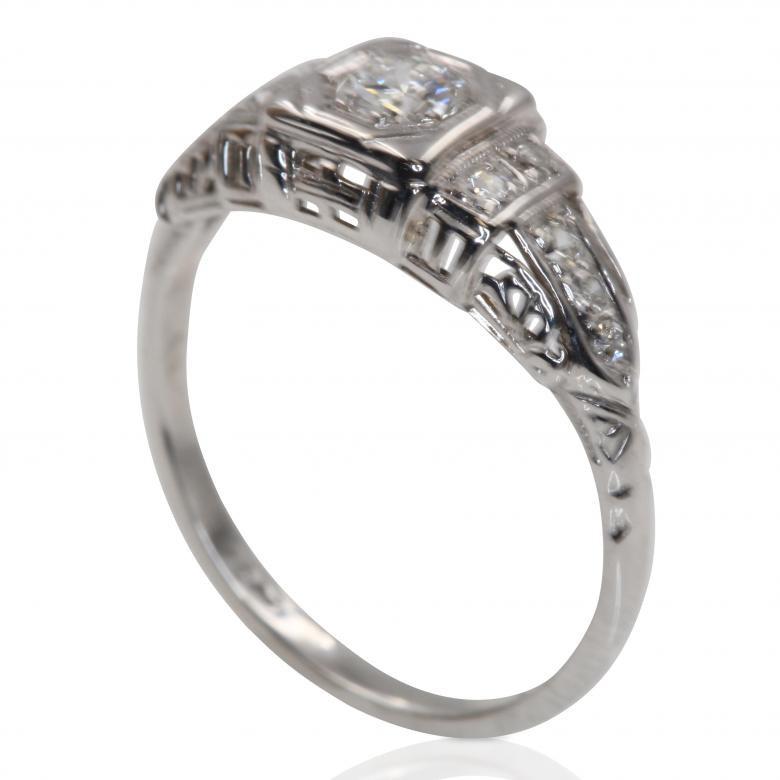 Diamond Engagement Ring History  ANTIQUE DIAMOND ENGAGEMENT RING WITH A LOVELY HISTORY