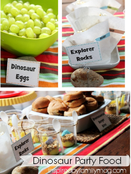 Dinosaur Party Food Ideas  Kids Party Idea Dinosaur Party Inspired by Family