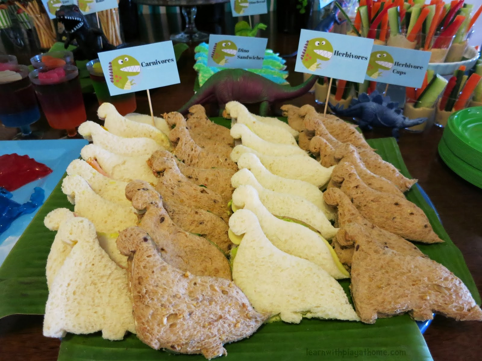 Dinosaur Party Food Ideas  Learn with Play at Home Dinosaur Party