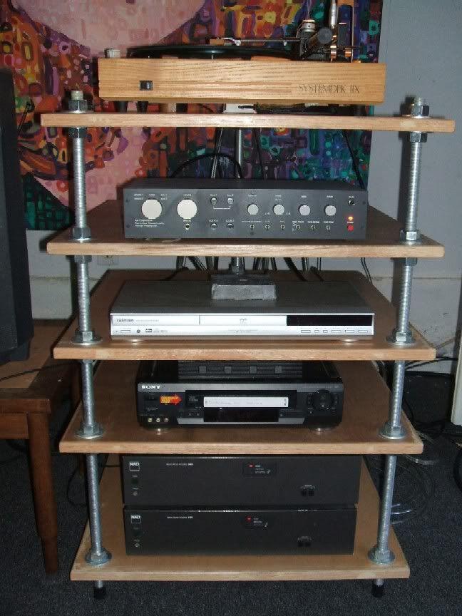 DIY Av Rack  My DIY stereo rack since some have asked