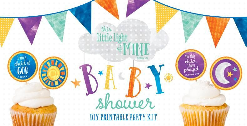 Diy Baby Shower Invitations Kits  DIY Printable Party Kit This Little Light of Mine Baby