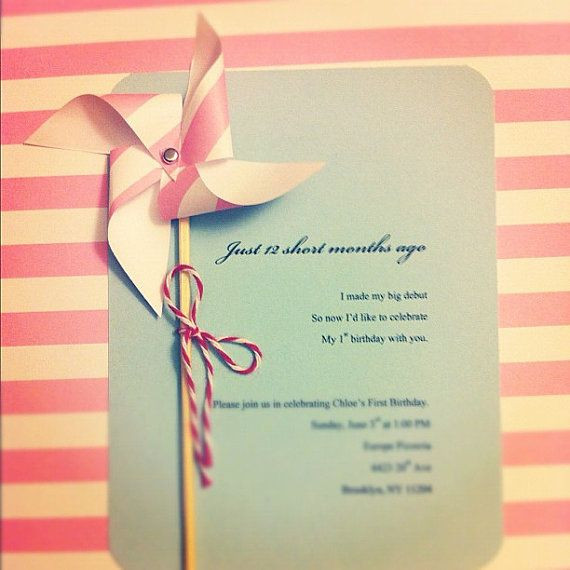 Diy Baby Shower Invitations Kits  DIY Pinwheel Invitation Kit Makes 8 by EcoMonster on Etsy