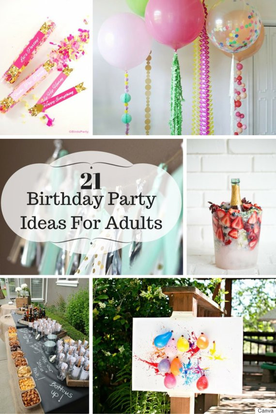 DIY Birthday Decorations For Adults  21 Ideas For Adult Birthday Parties