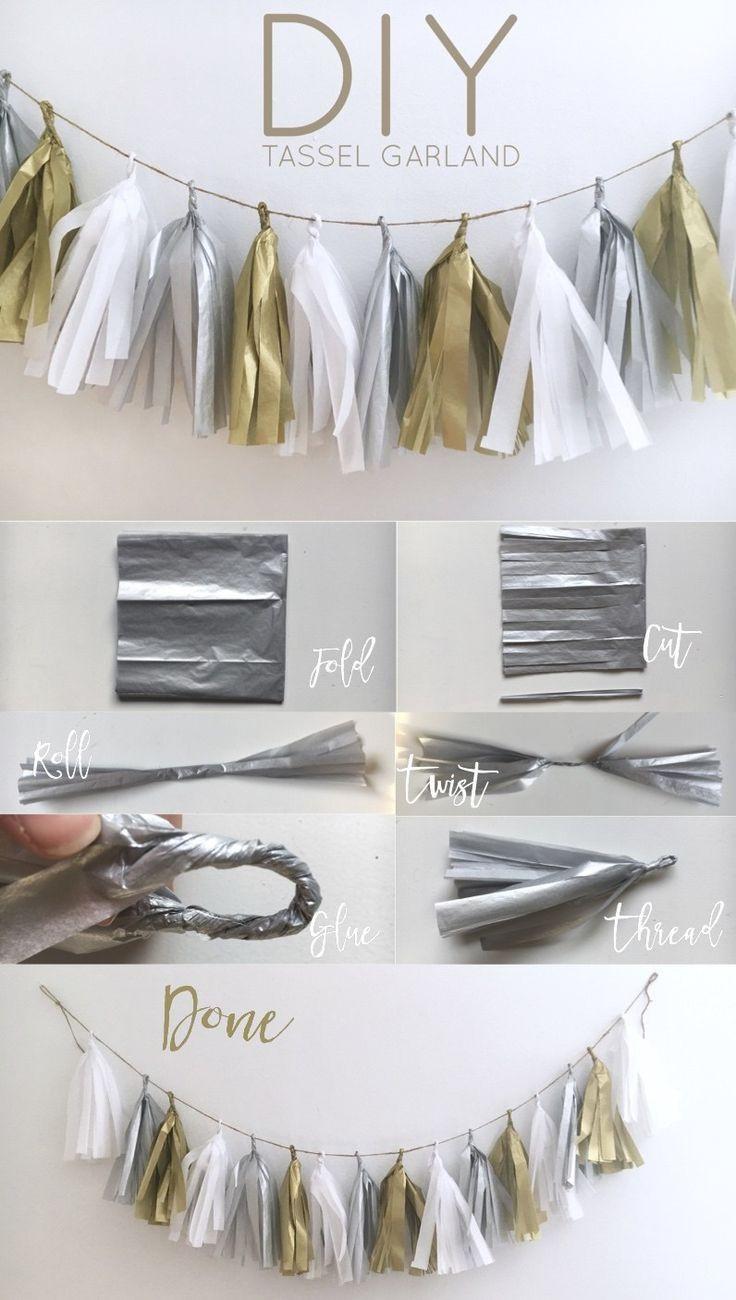 DIY Birthday Decorations For Adults  DIY Tassel Garland