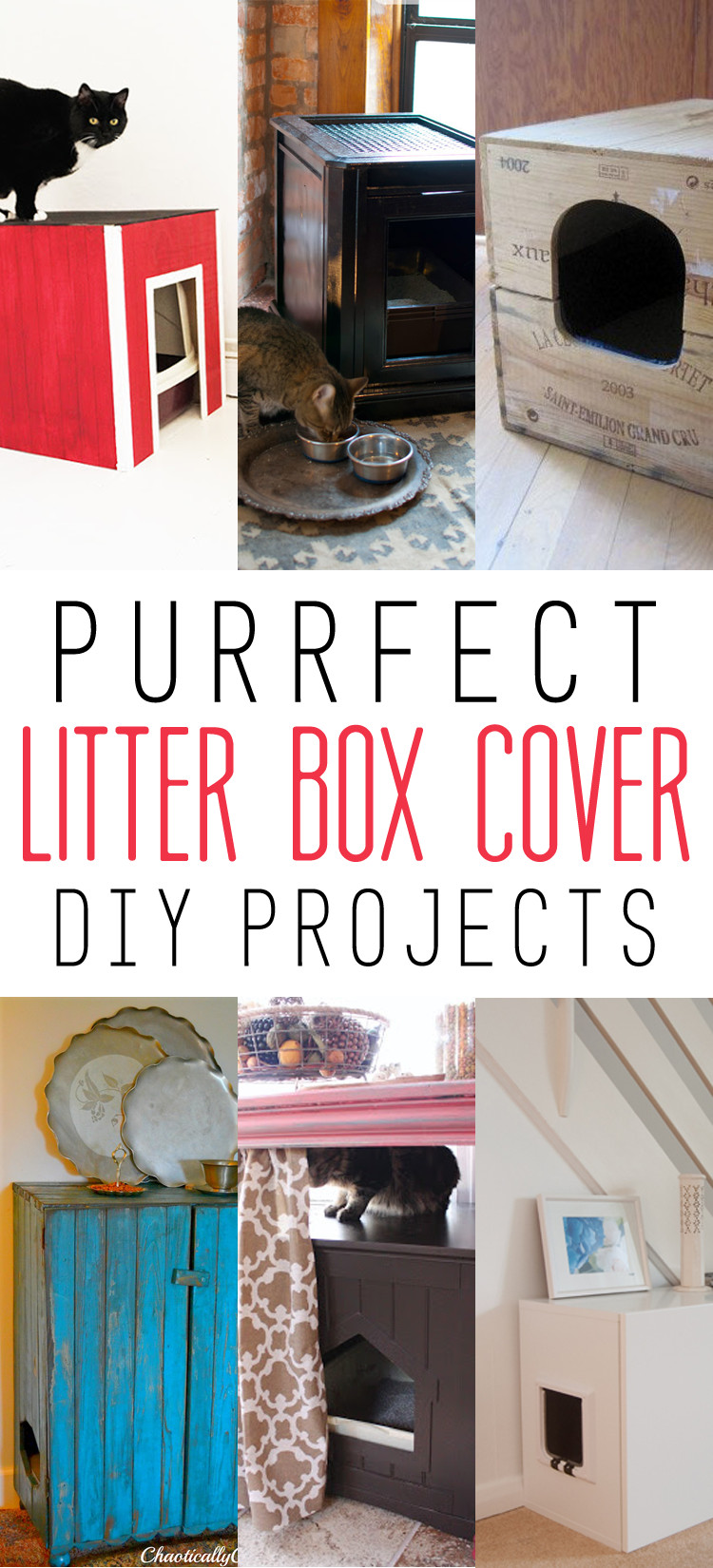 DIY Cat Litter Box Cover  Purrfect Litter Box Cover DIY Projects