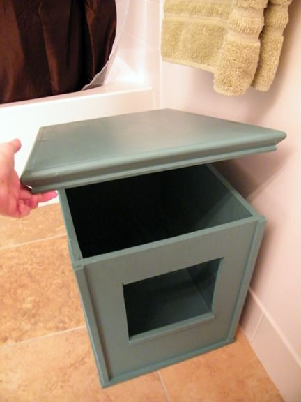 DIY Cat Litter Box Cover  DIY Kitty Litter Box