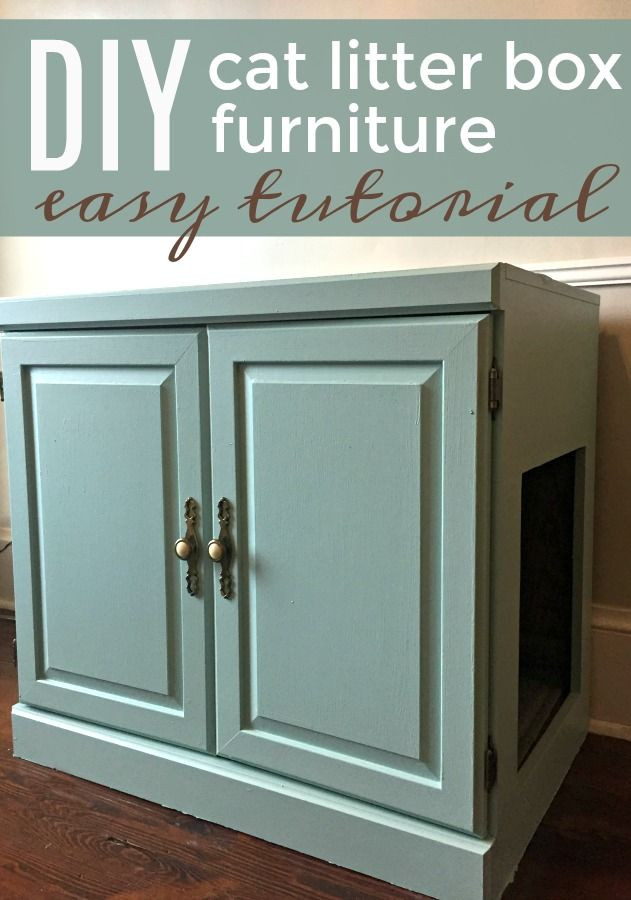 DIY Cat Litter Box Cover  Litter Boxes That Look Like Furniture