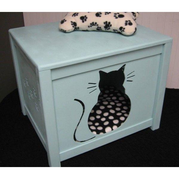 DIY Cat Litter Box Cover  Best 25 Diy litter box cover ideas on Pinterest