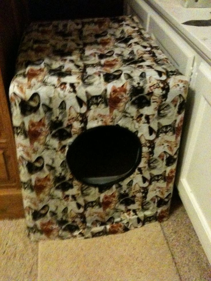 DIY Cat Litter Box Cover  DIY Litter Box cover Things to Make