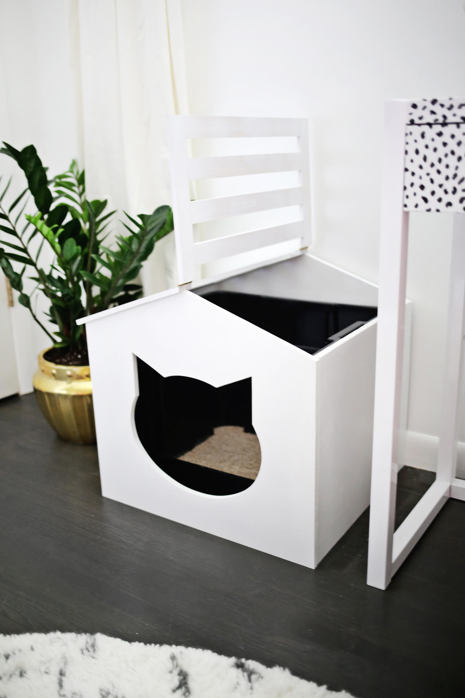 DIY Cat Litter Box Cover  Litter Box Cover DIY – A Beautiful Mess