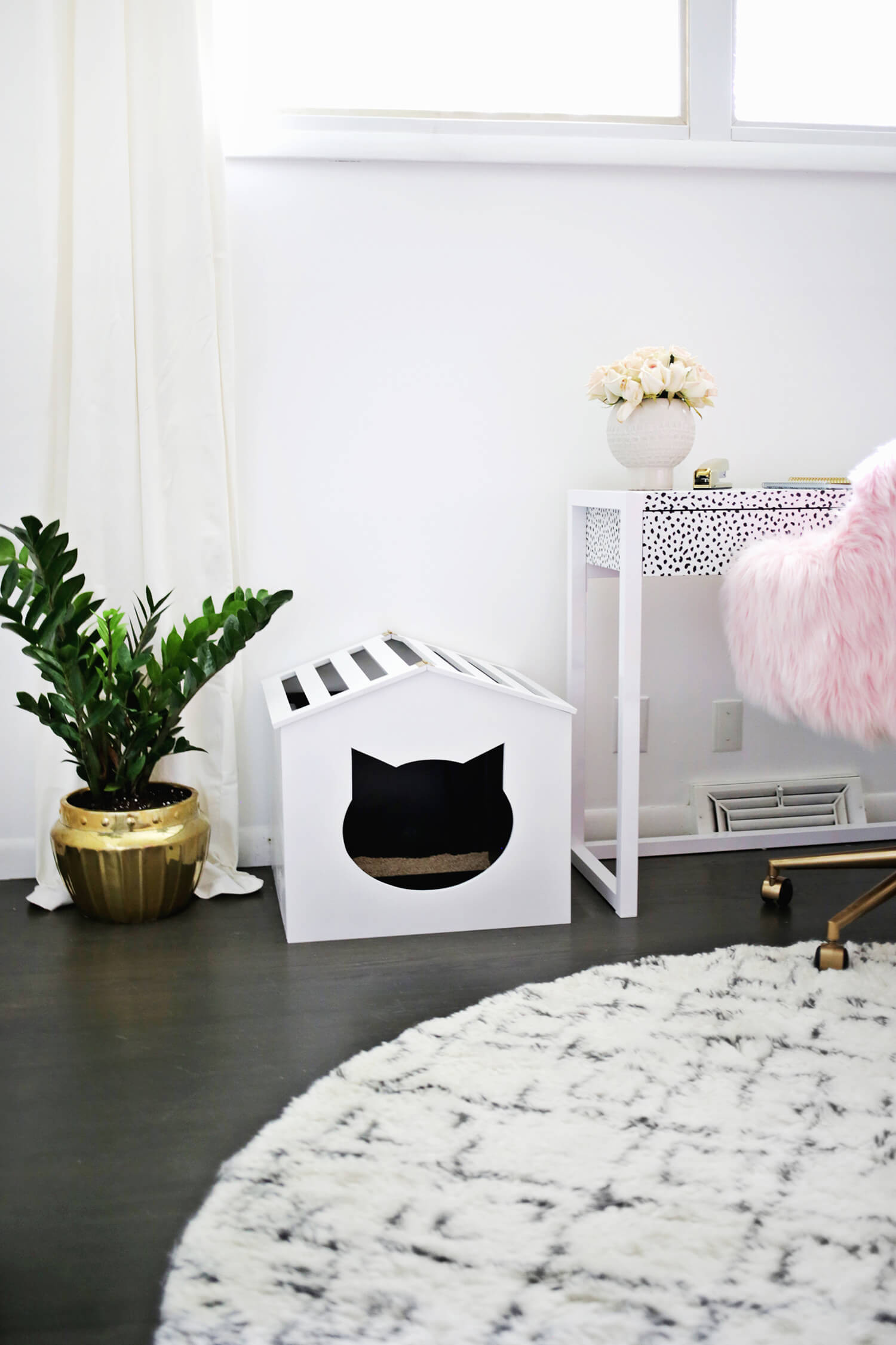 DIY Cat Litter Box Cover  Litter Box Cover DIY A Beautiful Mess