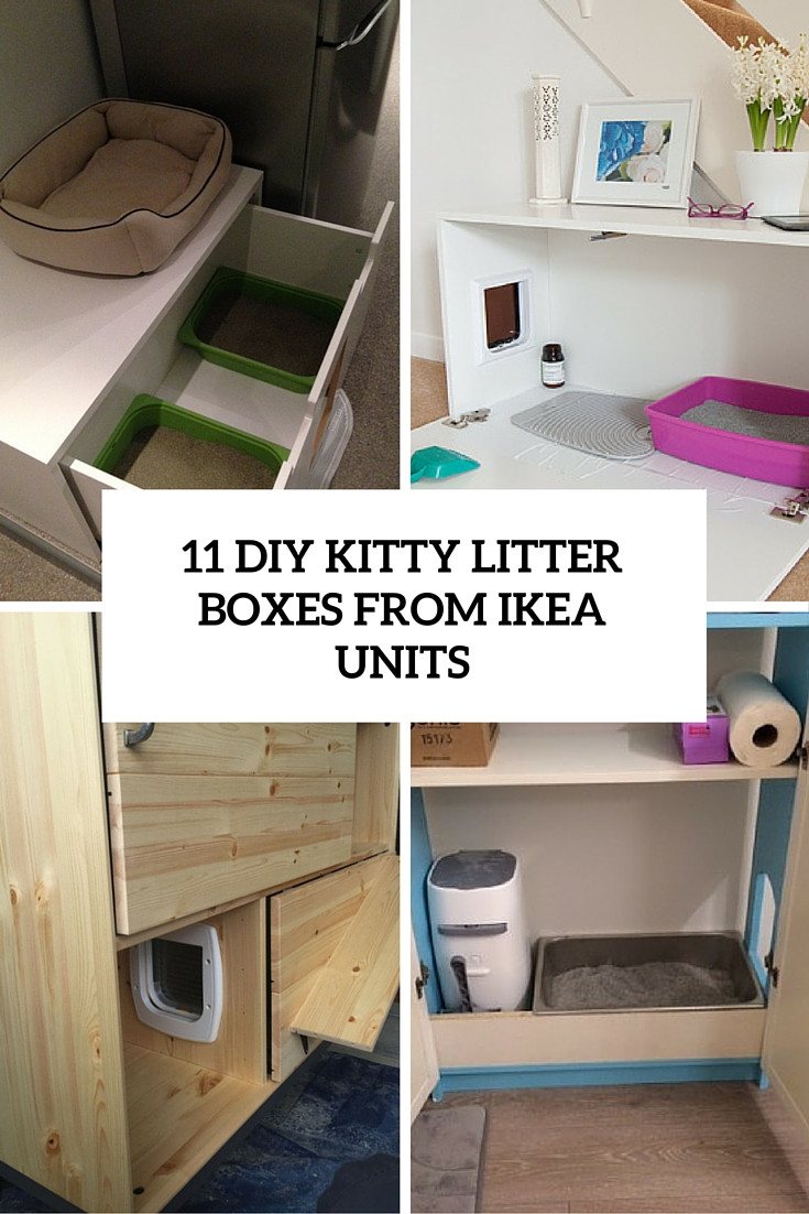 DIY Cat Litter Box Cover  11 Simple DIY Kitty Litter Boxes And Loos From IKEA Units