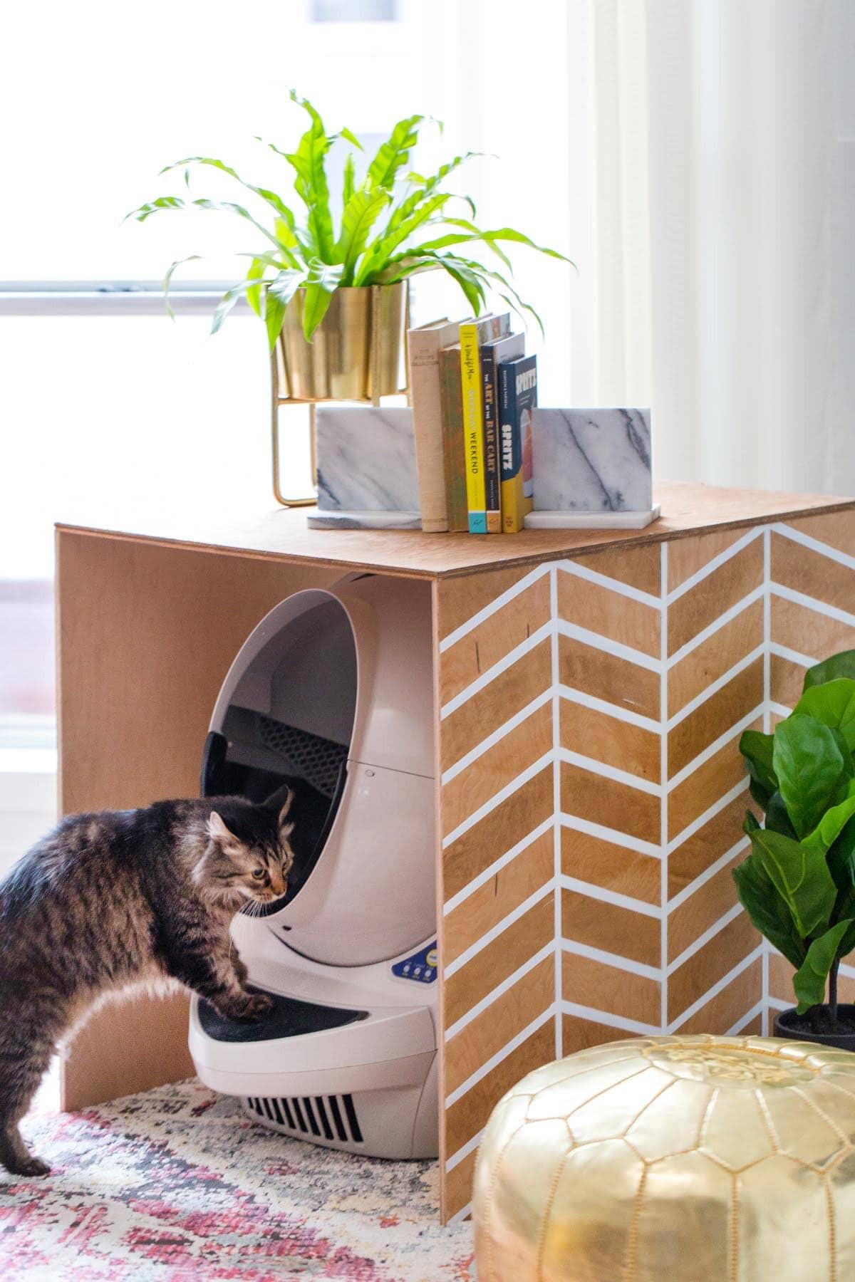 DIY Cat Litter Box Cover  Patterned DIY Litter Box Cover Sugar & Cloth DIY Home Decor