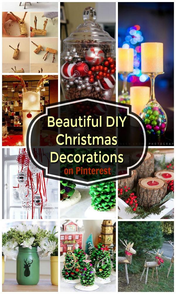 DIY Christmas Decorations Pinterest  22 Beautiful DIY Christmas Decorations on Pinterest