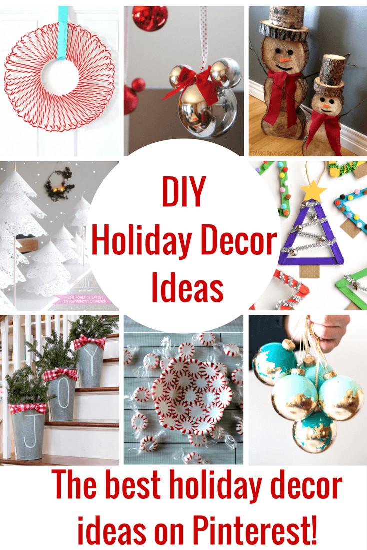 DIY Christmas Decorations Pinterest  The Best DIY Holiday Decor on Pinterest Princess Pinky Girl