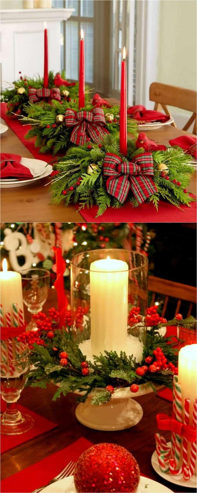 DIY Christmas Decorations Pinterest  27 Gorgeous DIY Thanksgiving & Christmas Table Decorations