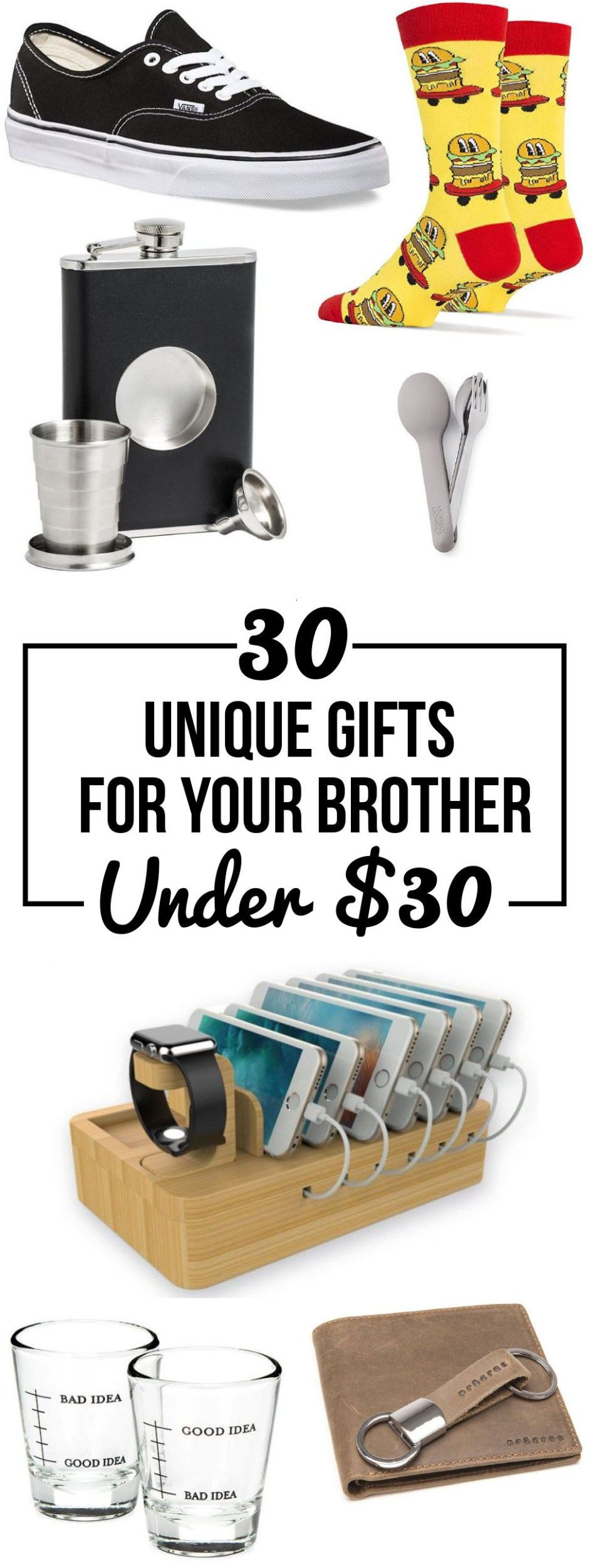 DIY Christmas Gifts For Brothers  30 Unique Gifts For Your Brother All Under $30