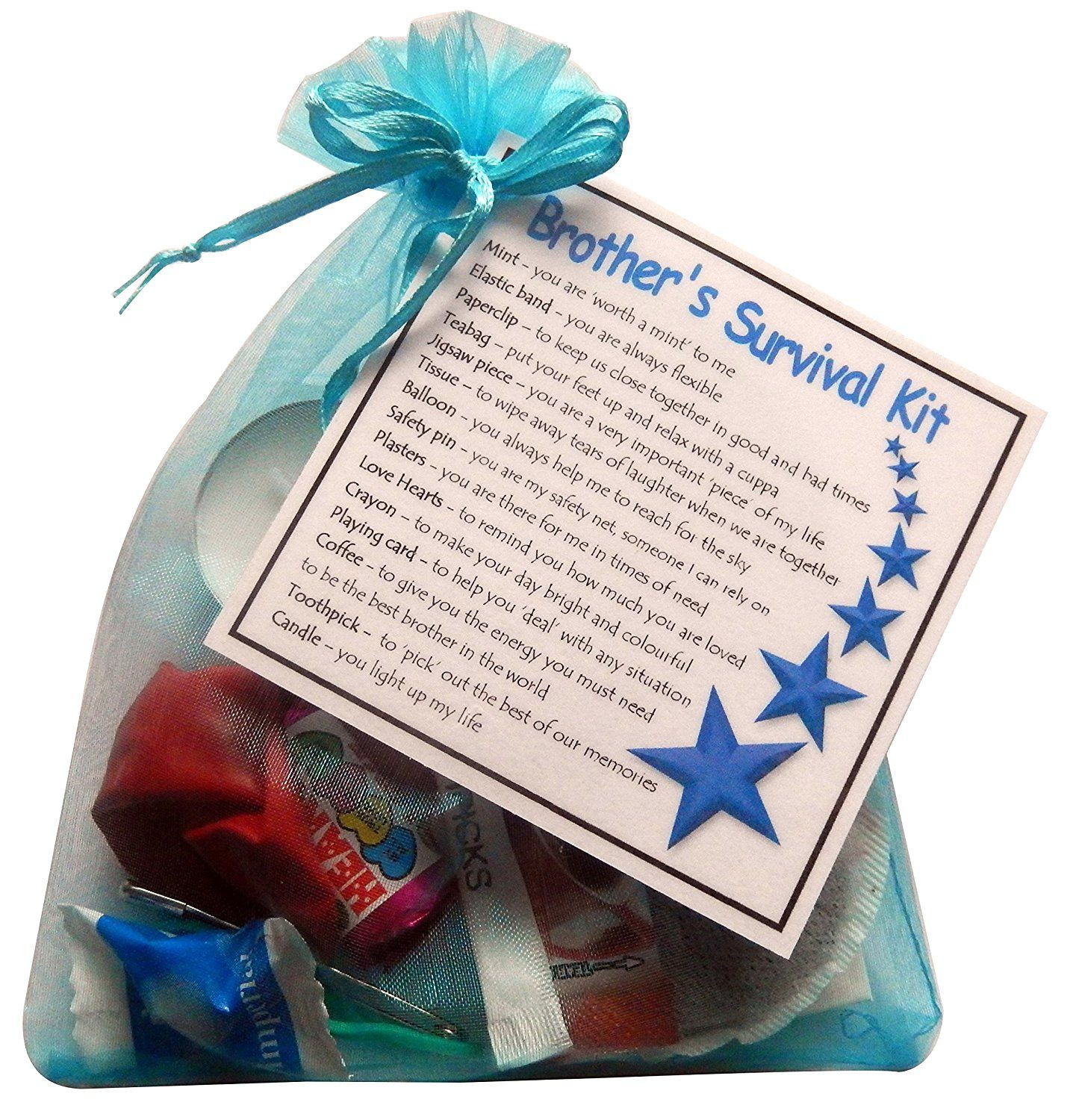 DIY Christmas Gifts For Brothers  Brother s Survival Kit Gift Great novelty t for