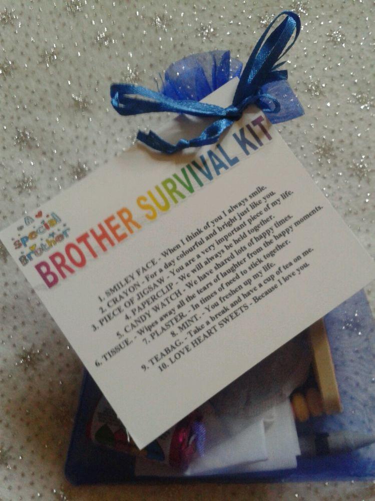 DIY Christmas Gifts For Brothers  BROTHER SURVIVAL KIT Novelty Keepsake Christmas Birthday