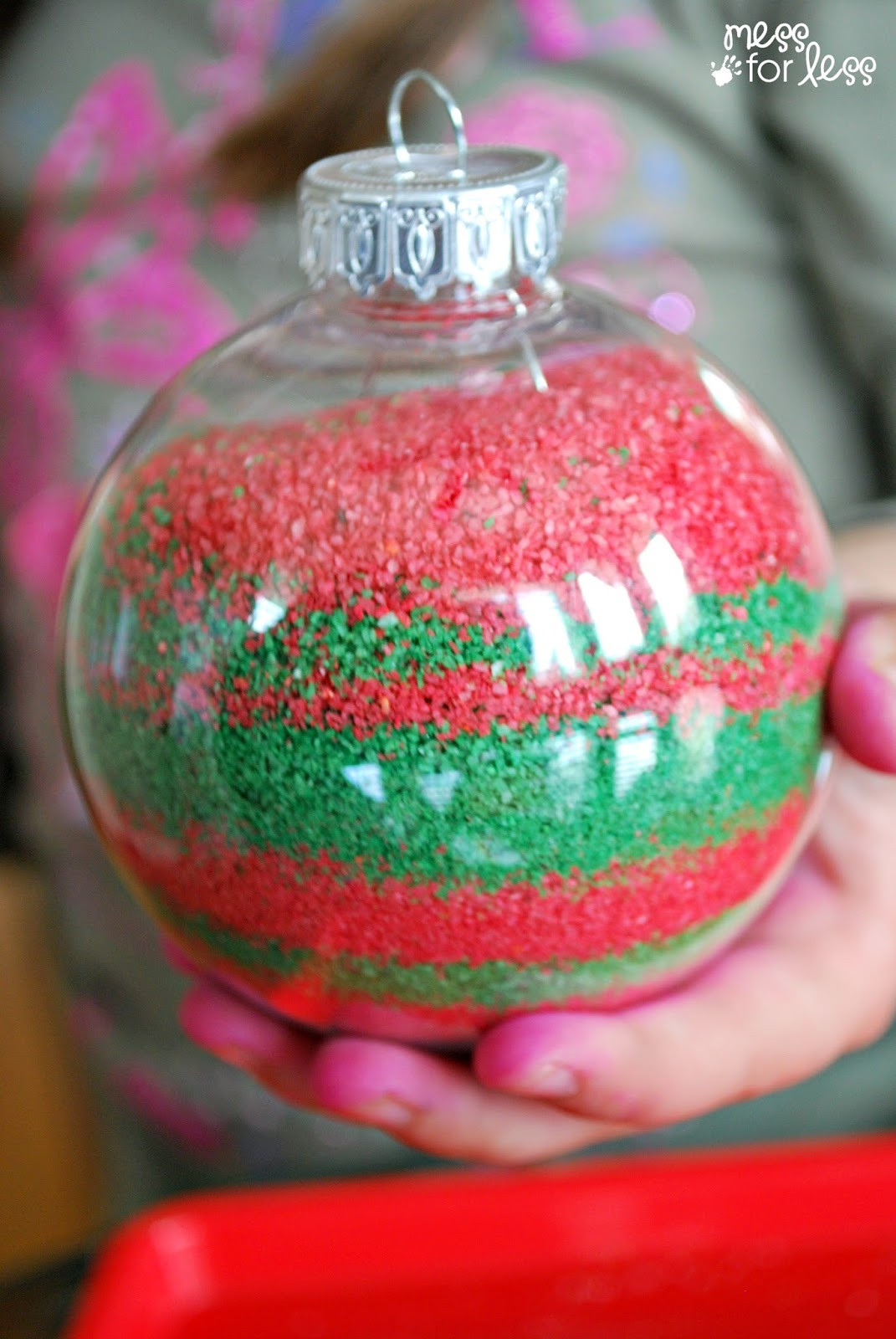DIY Christmas Ornaments With Pictures  Kids Homemade Christmas Ornaments Mess for Less
