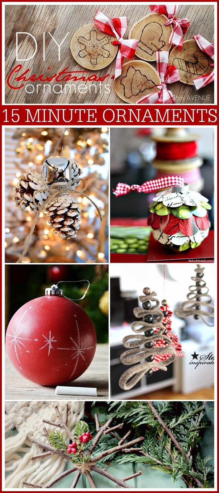 DIY Christmas Ornaments With Pictures  15 Minute DIY Christmas Ornaments The 36th AVENUE